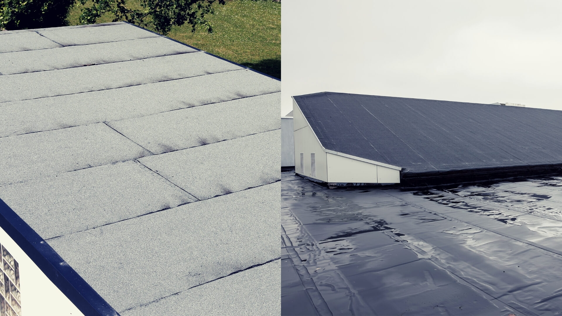 Flat Roof vs Sloped Roof Image - Tectum Salinas Roofing